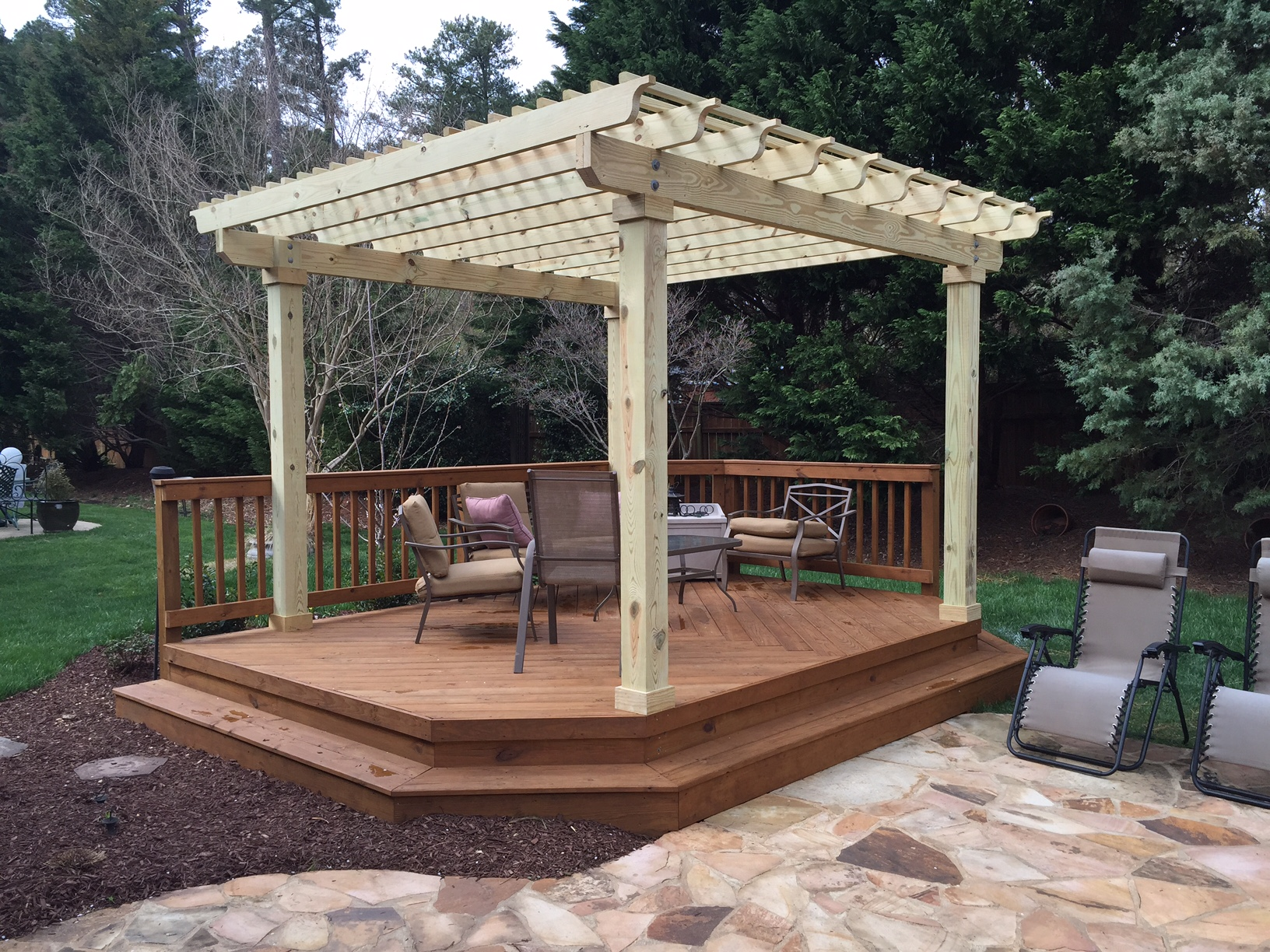How to cover your deck patio or porch for any price by for Detached covered patio plans