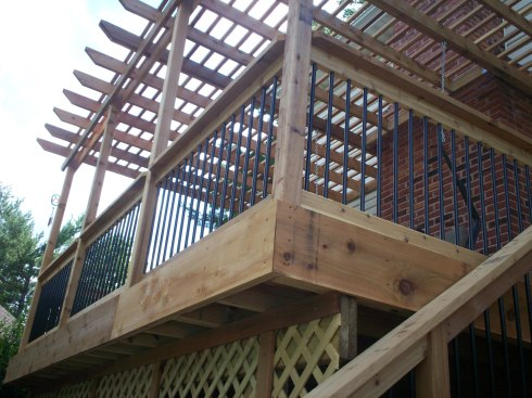 Elevated Deck with Pergola, Chesterfield Mo by Archadeck of West County in St. Louis
