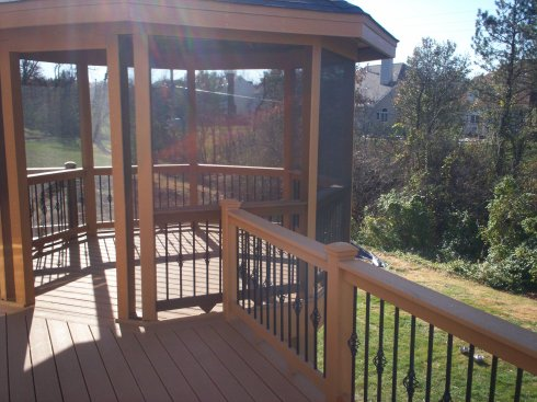 Elevated Screened in Gazebo with Safety Rails, St. Louis Mo by Archadeck