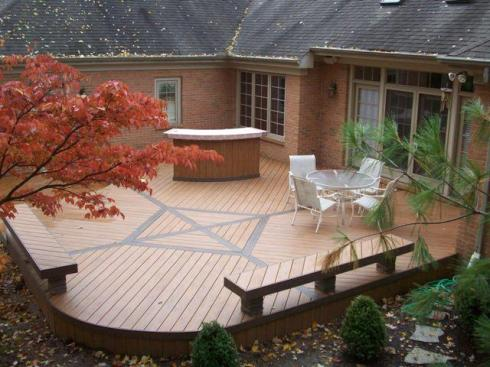 Ground Level Composite Deck by Archadeck