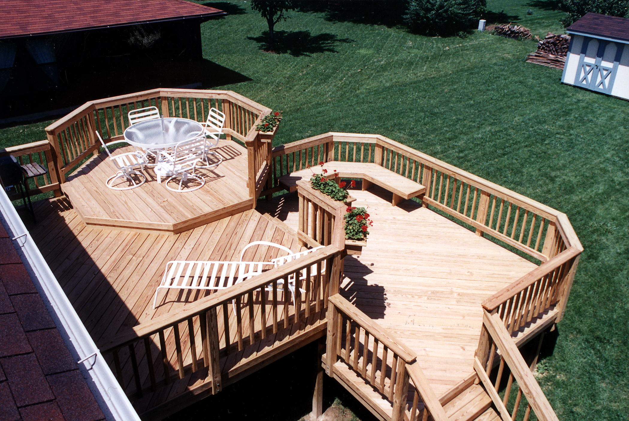 Outdoor Living St. Louis | St. Louis decks, screened ... on Wood Deck Ideas For Backyard id=56677
