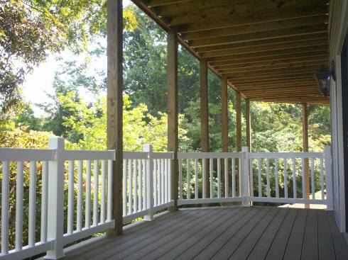 Lower Deck Shaded by Upper Deck and Trees, St. Louis Mo, by Archadeck