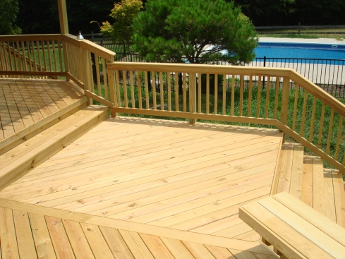 Multilevel Wood Deck by Archadeck