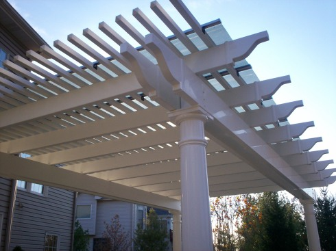 Pergola with Solar Panel, St. Charles Mo, by Archadeck in St. Louis Mo