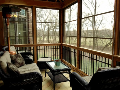 Screened In Porch by Archadeck, Furnishings, Lights, Heater