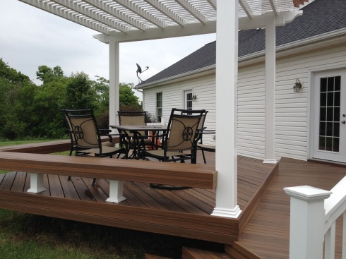AZEK PVC Decking in Acacia (Tropical Hardwood) by Archadeck