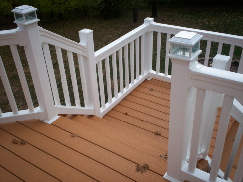 Composite Deck with Vinyl Rails by Archadeck - St. Louis Mo