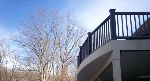 Elevated Deck with Under Deck Ceiling and Post Covers, St. Louis Mo by Archadeck
