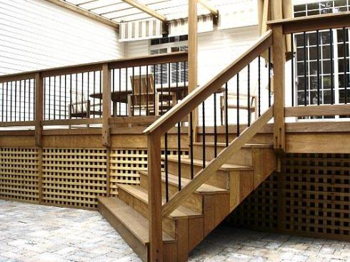 Ipe Hardwood Deck and Skirting by Archadeck