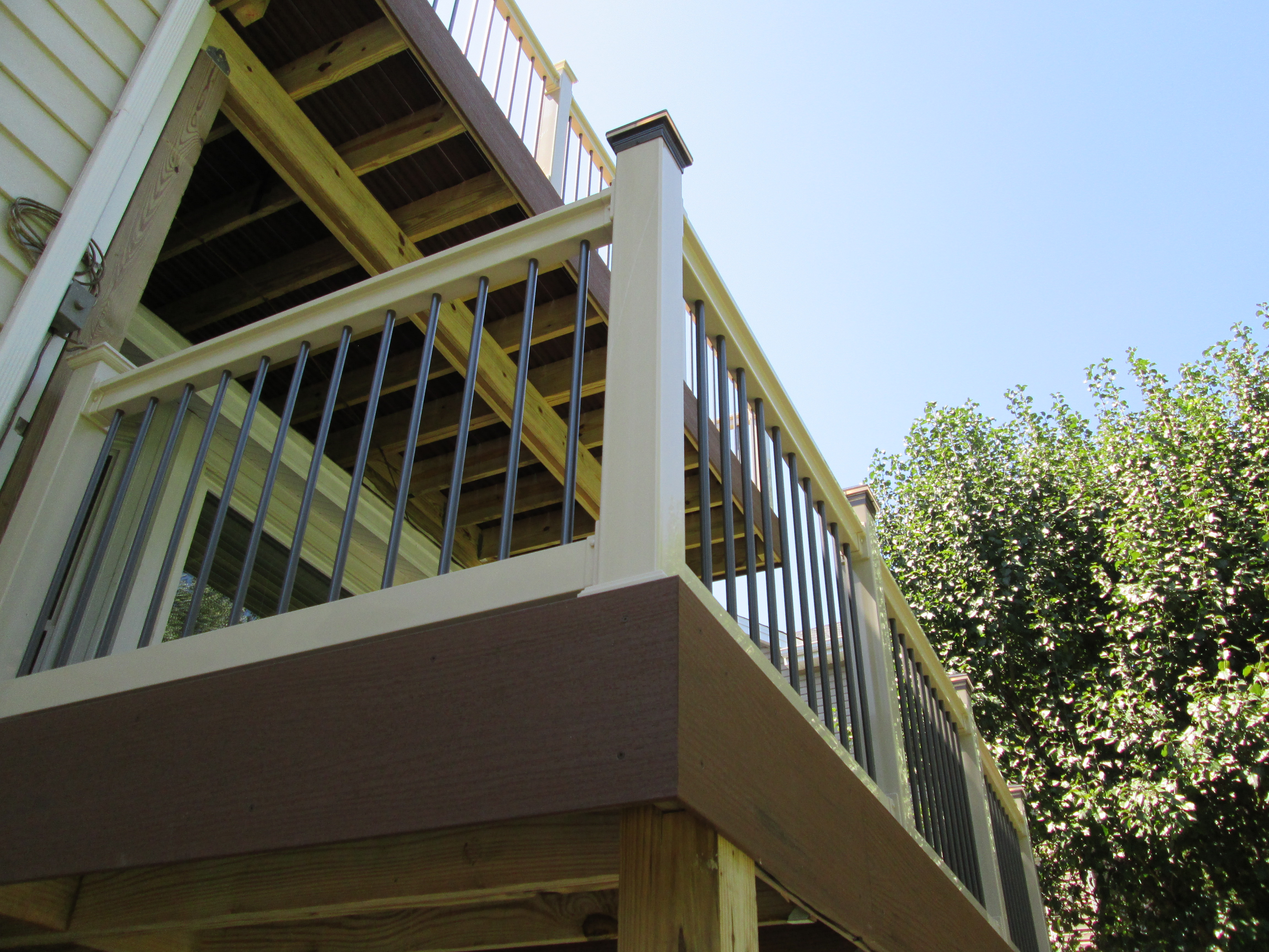 St louis decks screened porches pergolas by archadeck for Two story deck