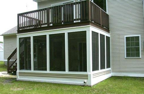 Under Deck Screen Porch by Archadeck