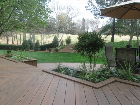 Built In Planters for Deck by Archadeck