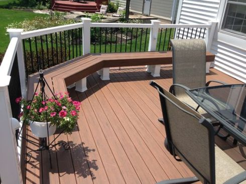 Composite Deck with Bench by Archadeck