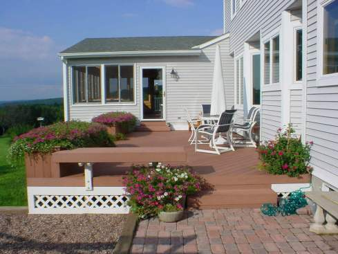 Composite Deck with Planters by Archadeck