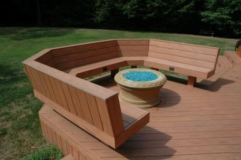 Deck with Benches by Archadeck