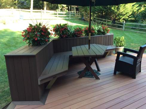 Deck with Built In Planters, by Archadeck