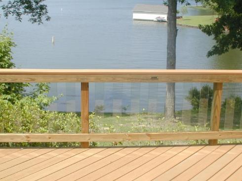 Glass Balusters for Deck Rail, Project by Archadeck