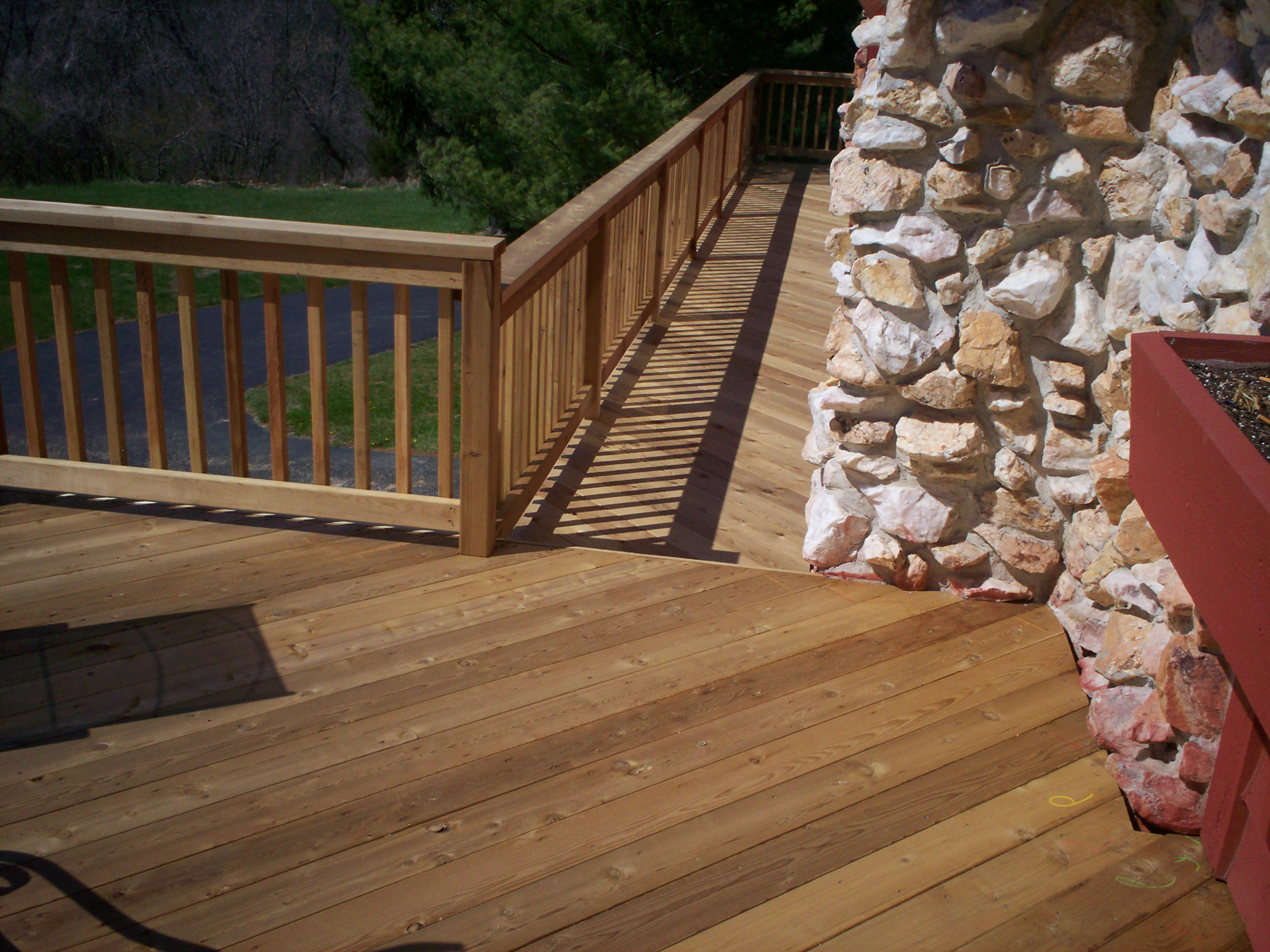 Traditional Cedar Deck Rails and Balusters St