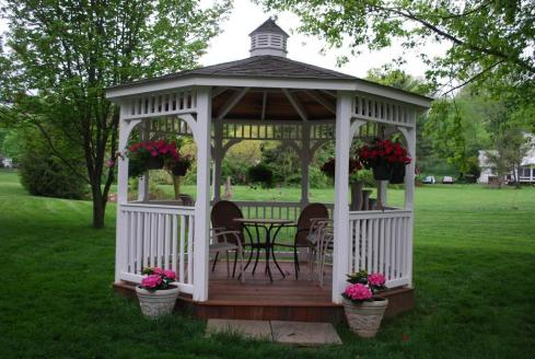 Vinyl Gazebo on Ipe Deck by Archadeck