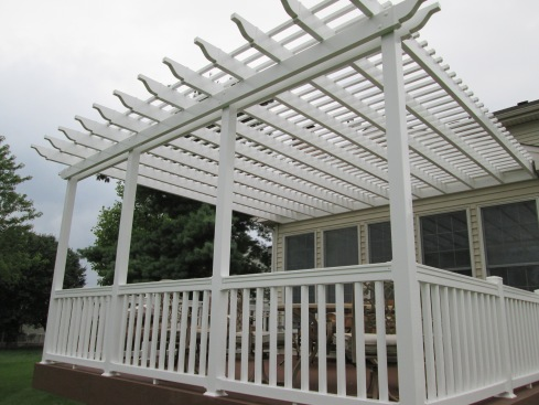 Attached Pergola Fully Shades Deck, St. Louis Mo, by Archadeck