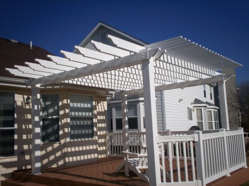 Deck with Pergola, St. Charles Mo by Archadeck of West County in St. Louis