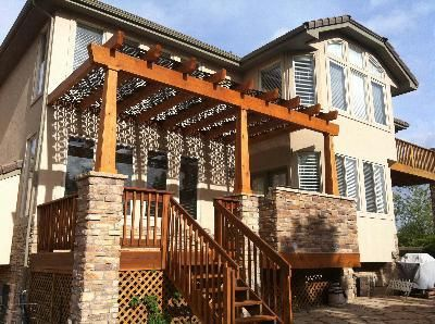 Deck Pergola with Decorative Panels by Archadeck