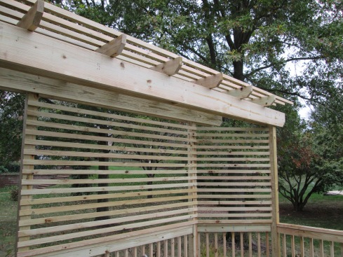 Deck Pergola with Privacy Screen, St. Louis Mo, by Archadeck