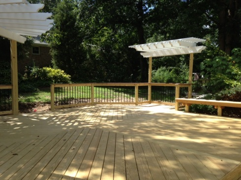 Deck with Two Pergolas by Archadeck