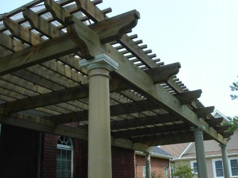 Wood and Low Maintenance Pergolas by Archadeck