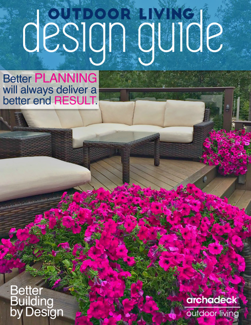 Archadeck Outdoor Living's Free Design Guide, Cover Graphic by Matthew Victor