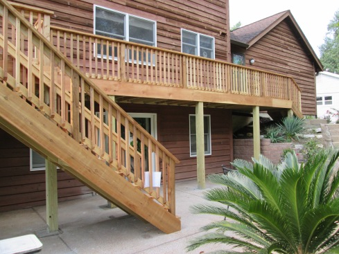 Cedar Deck, Rails and Balusters by Archadeck, St. Louis Mo