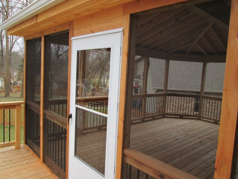 Cedar Screened In Deck, Chesterfield, Mo by Archadeck