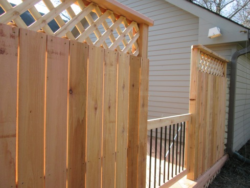 Deck with Privacy Wall, St. Louis Mo by Archadeck