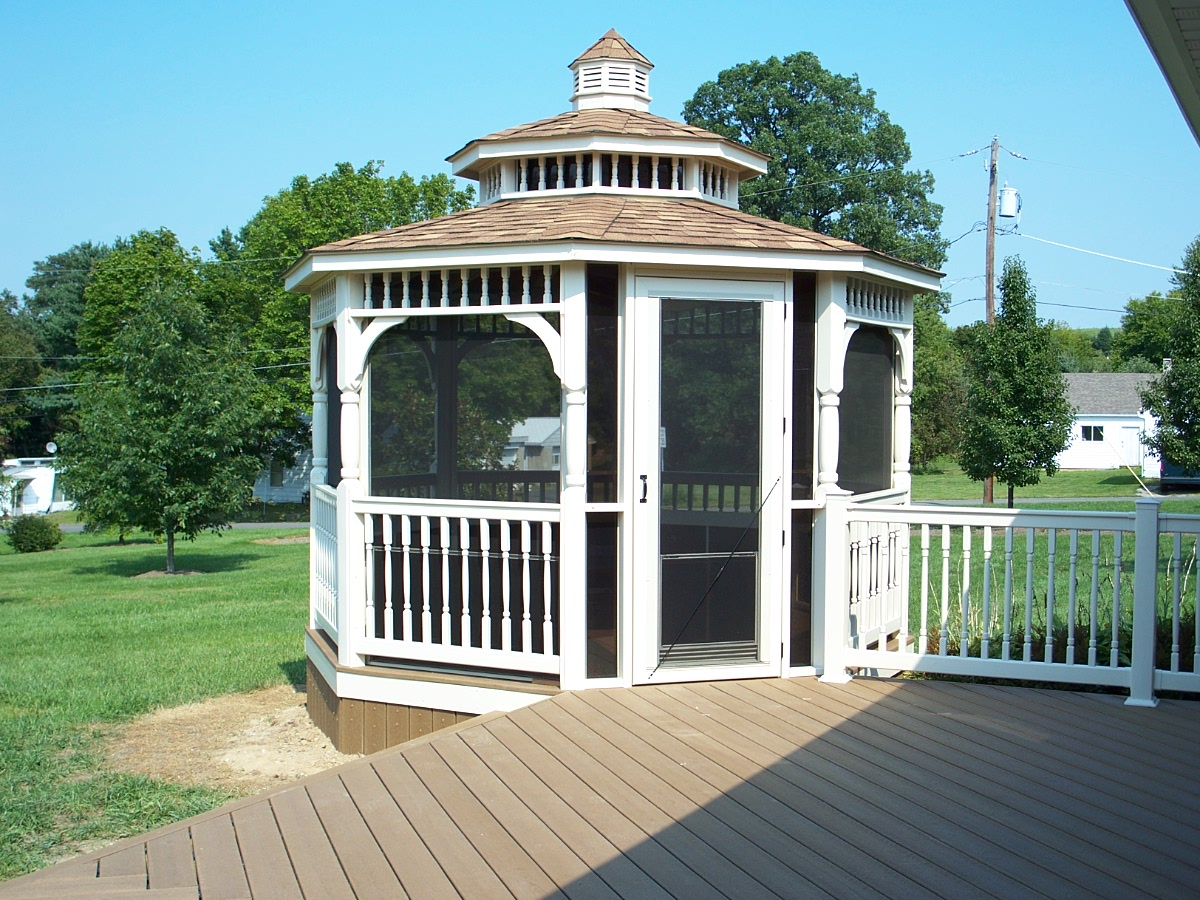 Gazebos st louis decks screened porches pergolas by for Detached screened porch plans