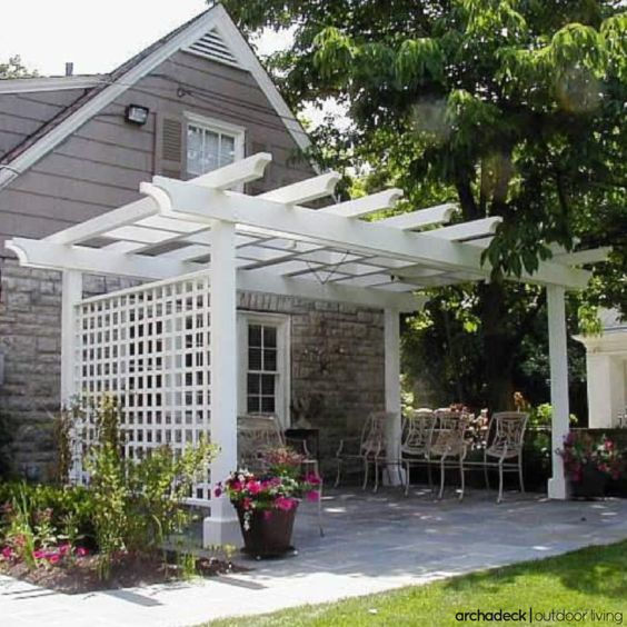 Beau Patio Pergola With Privacy Trellis By Archadeck