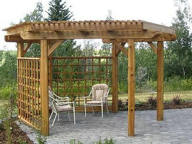 Wooden and Lattice Patio Cover by Archadeck - What Is The Difference Between An Arbor, Trellis And Pergola? St