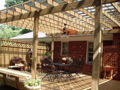 Wooden Pergola on Pressure Treated Deck, by Archadeck