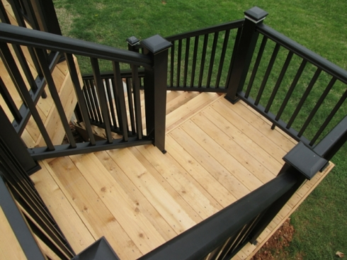 Cedar Deck and Black Rails by Archadeck of West County