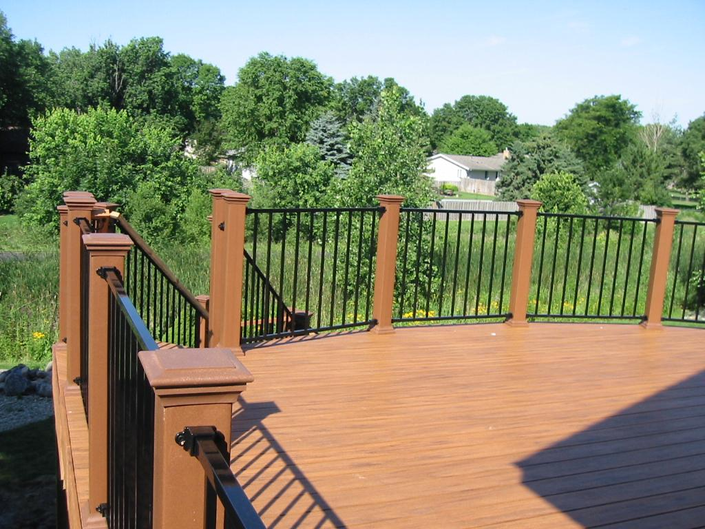 Can i use more than one type of building material for my for Low maintenance decking